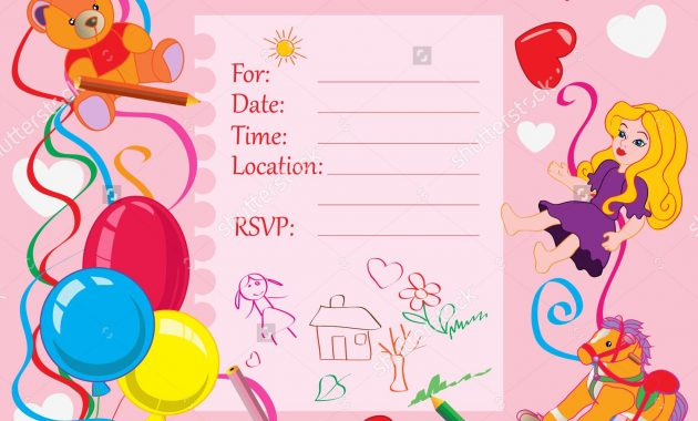 Printable Invitation Card for Birthday Party for Kids
