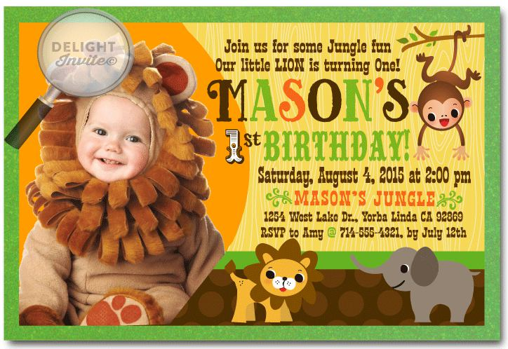 Safari Animals Birthday Party Invitation
