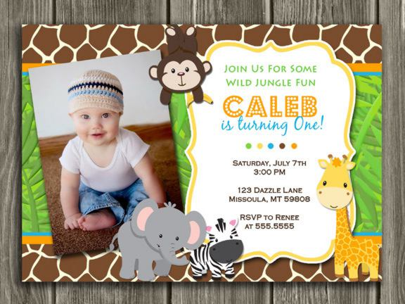 Safari Birthday Invitations Design Templates  Free Printable