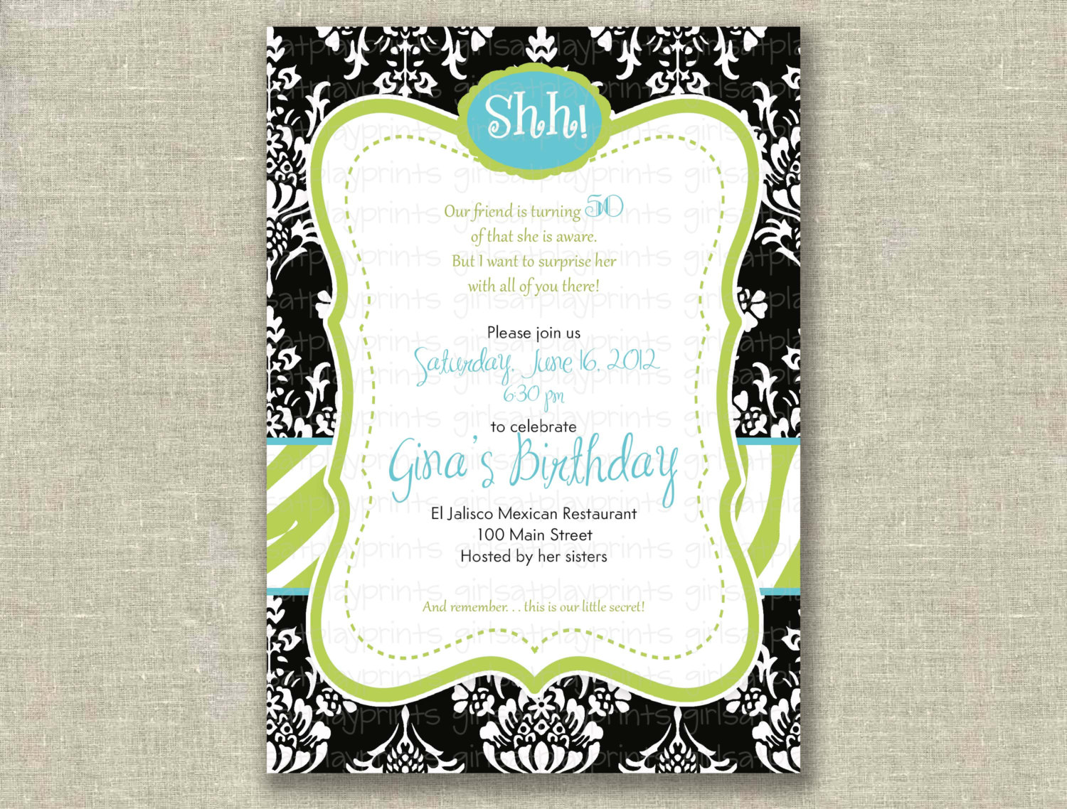 14+ 50 Birthday Invitations Designs – Free Sample Templates ...