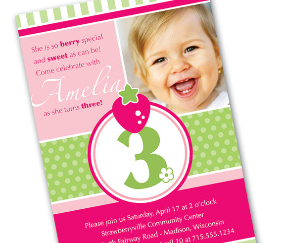 Sweet 3 Year Old Birthday Invitation Wording