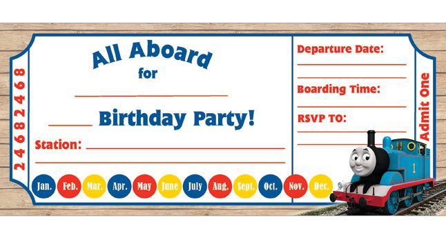 Train Birthday Invitations For Kid  Free Printable Templates