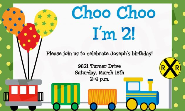 Train Birthday Invitations