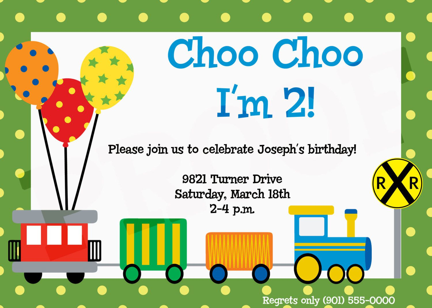9 Train Birthday Invitations For Kid Free Printable Templates