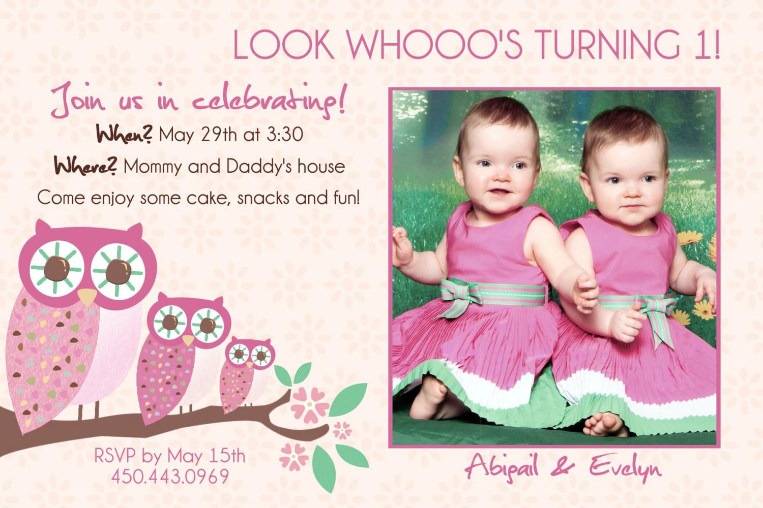 Twin Birthday Invitations Templates Free Sample Printable - Birthday invitation cards twins