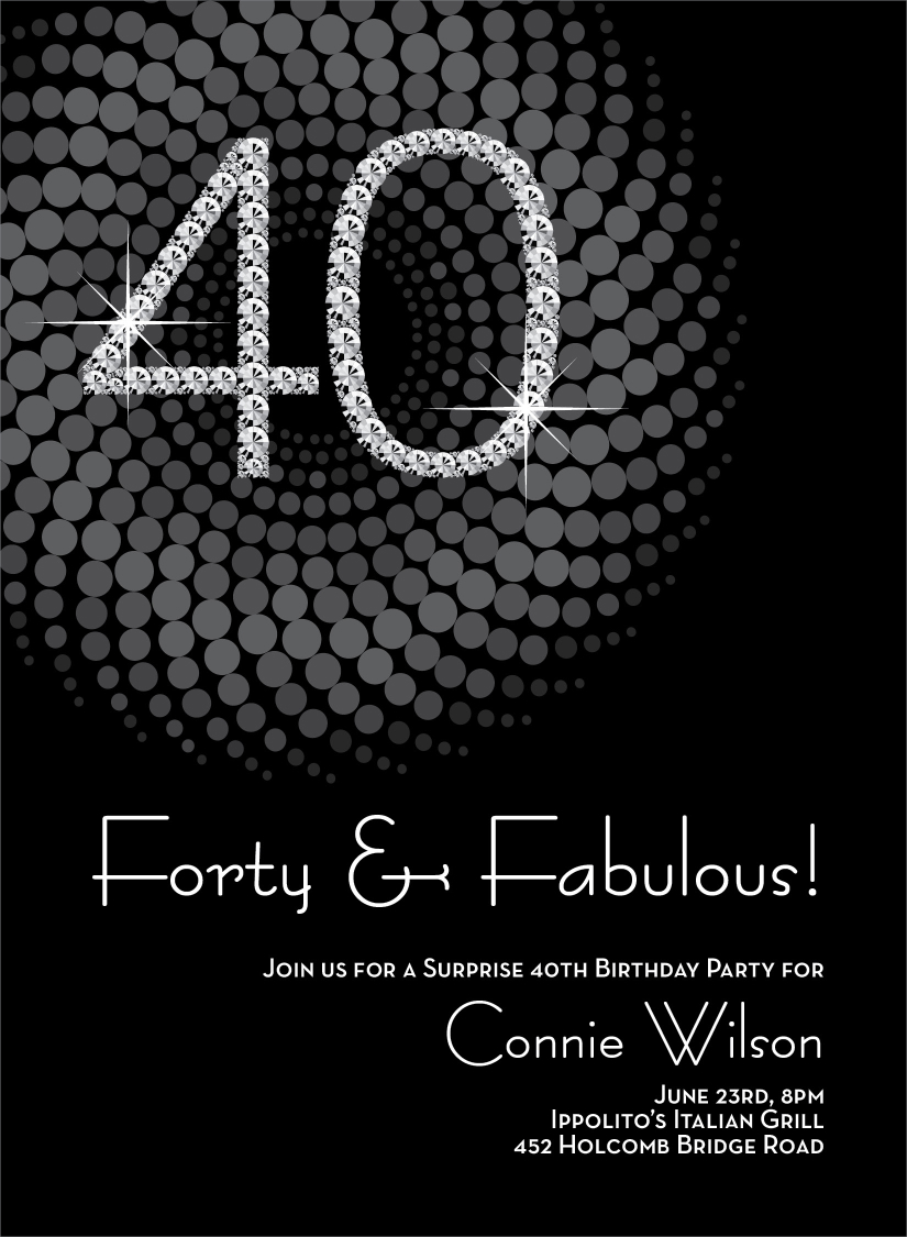 40th Birthday Invitation Ideas