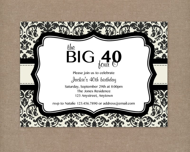 8+ 40th birthday Invitations Ideas and Themes – Sample Wording ...