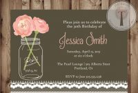 Elegant 21st Birthday Invitations