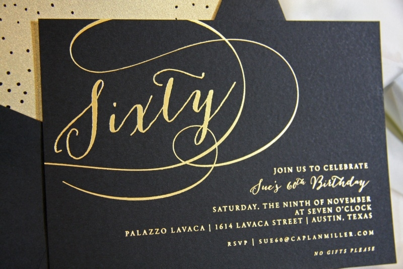 Elegant 60th Birthday Invitations