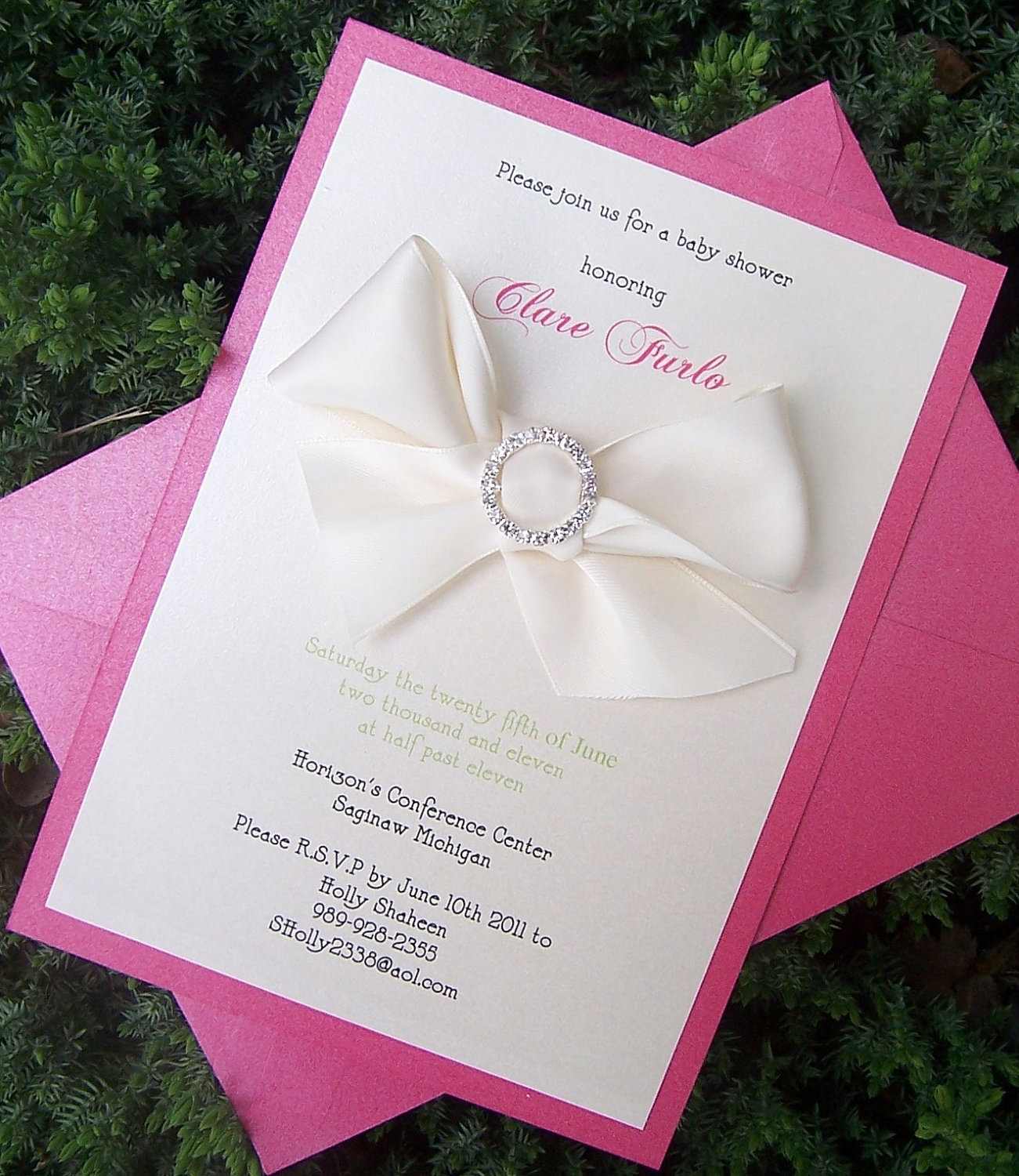 Elegant Baby Birthday Invitations