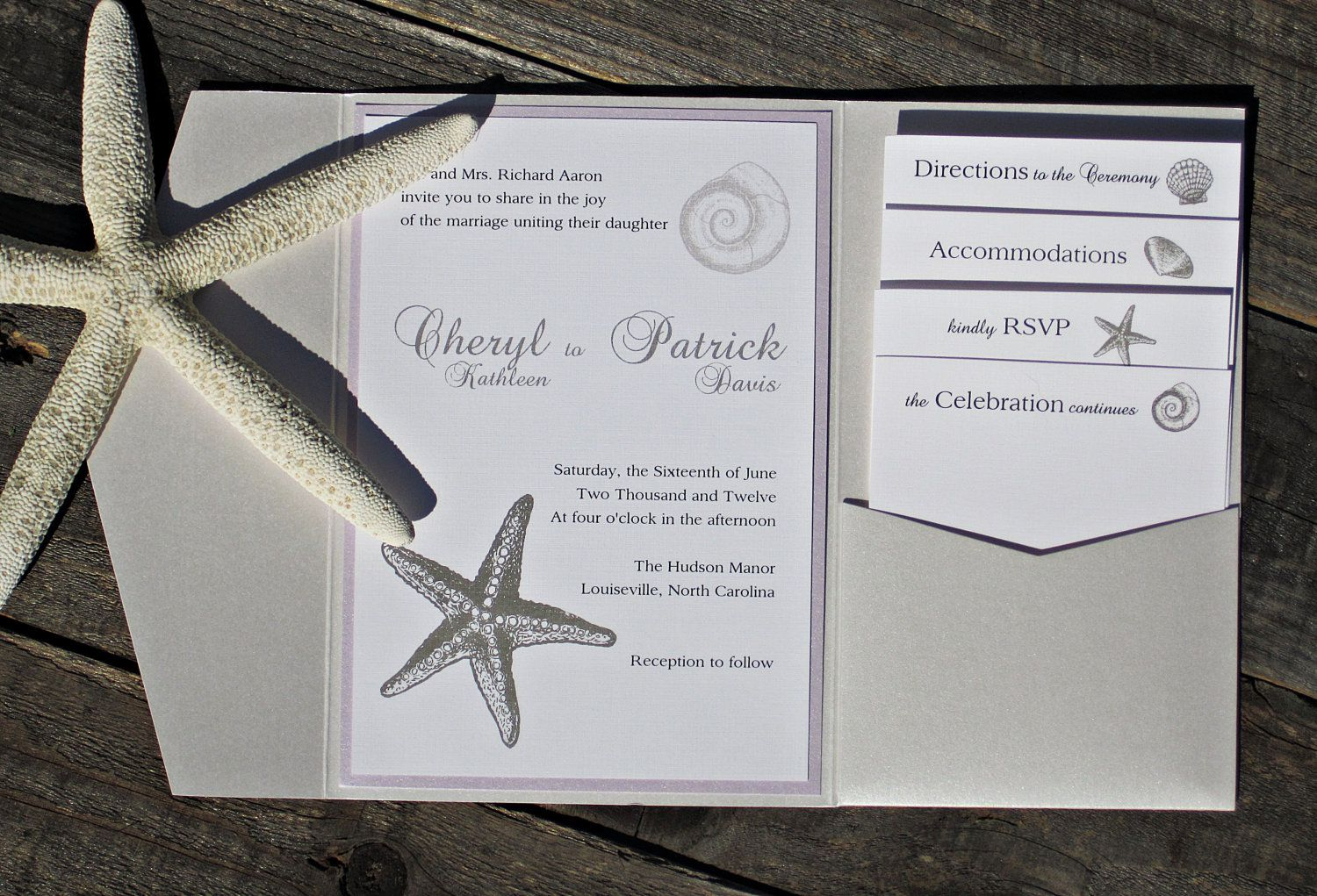 Elegant Beach Birthday Invitations