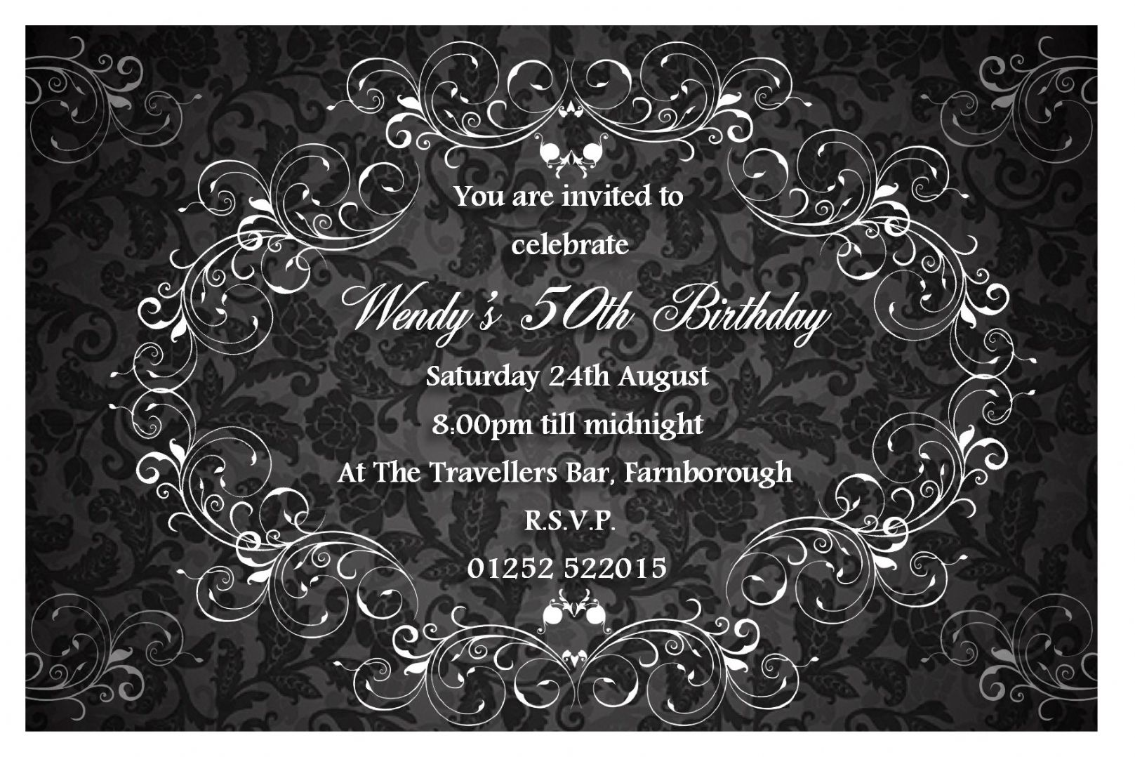 Elegant Birthday Invitations Templates