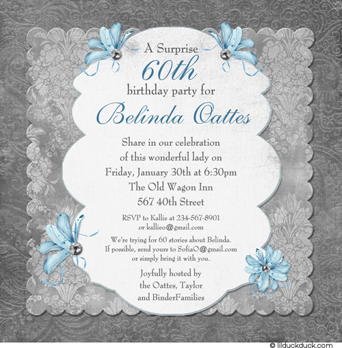 Elegant Birthday Invitations Wording