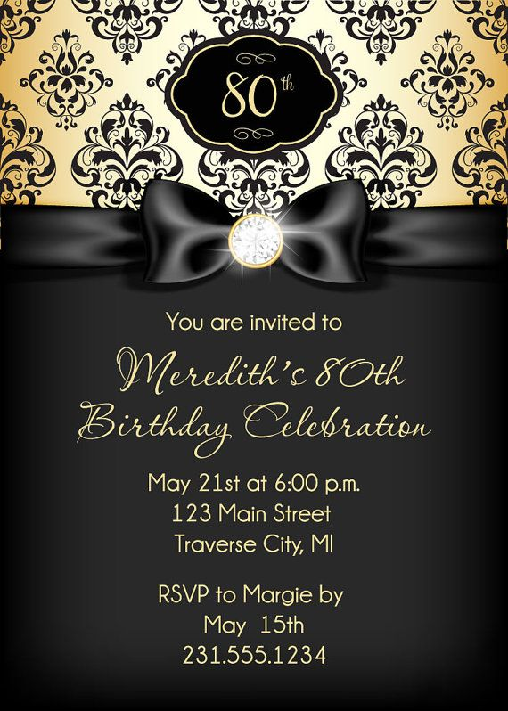 Elegant Birthday Invitations For Adults