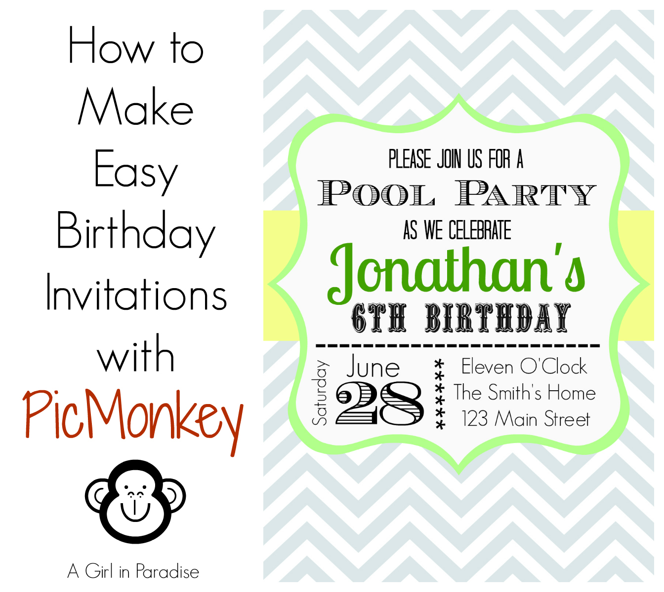 How to make birthday invitations in easy way birthday party how to make birthday invitations stopboris Choice Image