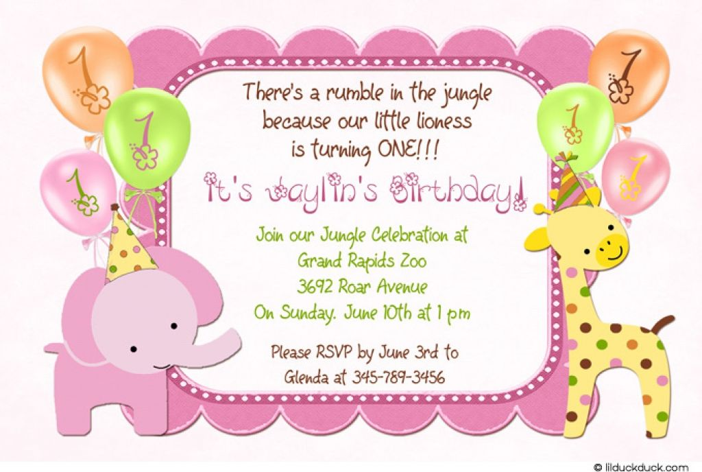 1st Kids Birthday Invitations