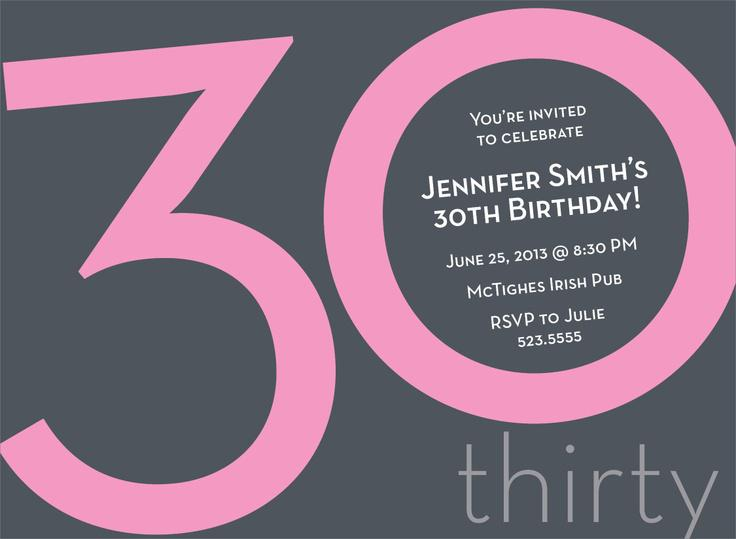 20+ interesting 30th birthday invitations themes – wording samples, Birthday invitations