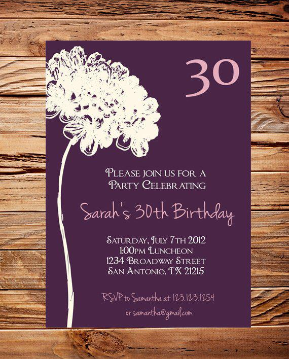 20 Interesting 30th Birthday Invitations Themes Wording Samples – Birthday Party Invitation Words