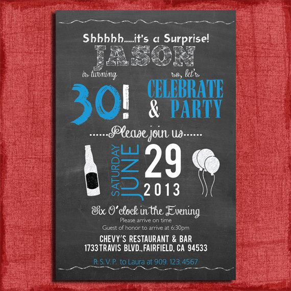 30th Surprise Birthday Invitations