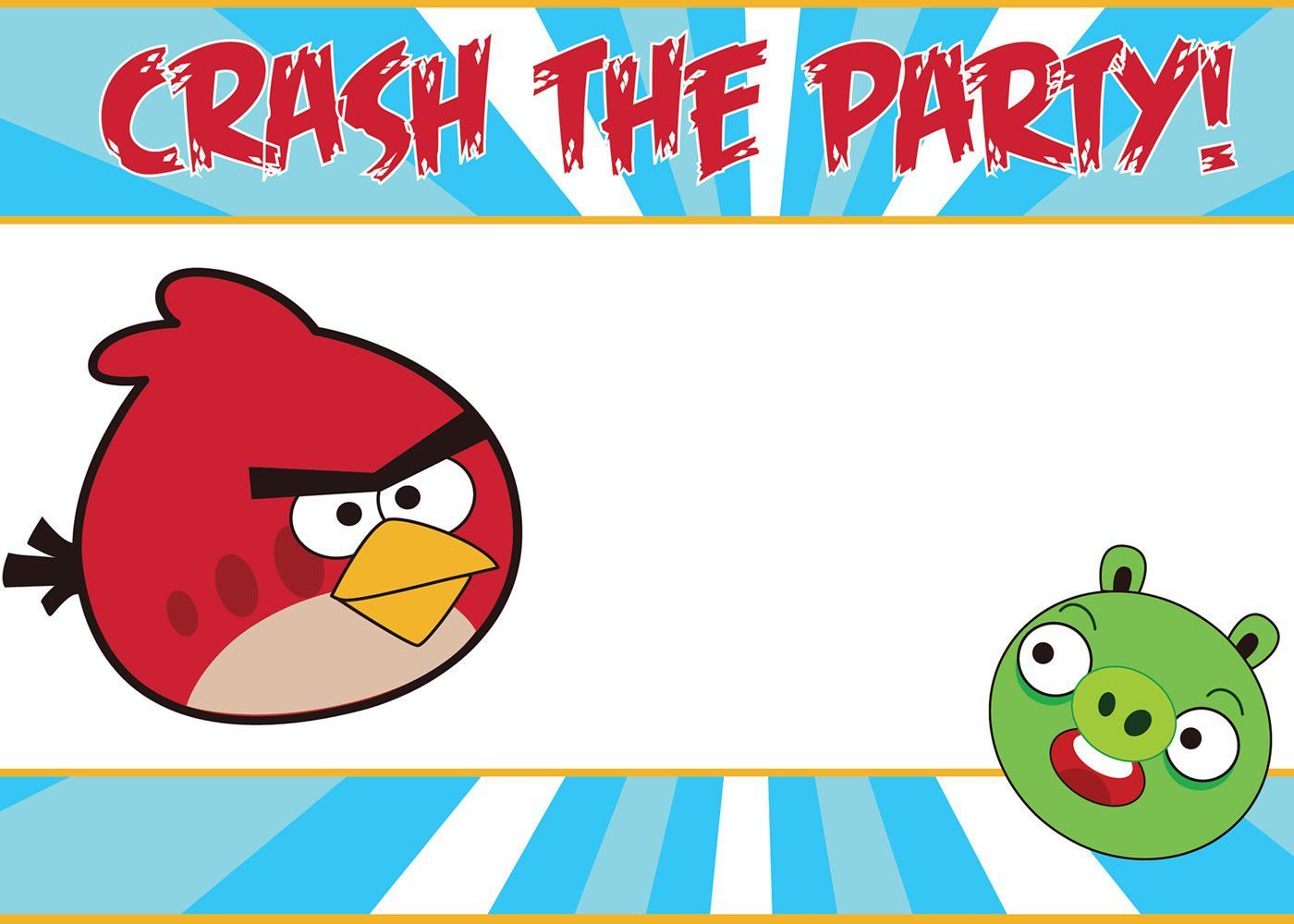 Angry Birds Boy Birthday Invitation Templates