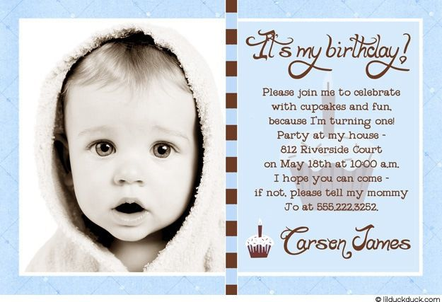 Baby Boy Birthday Invitation Message