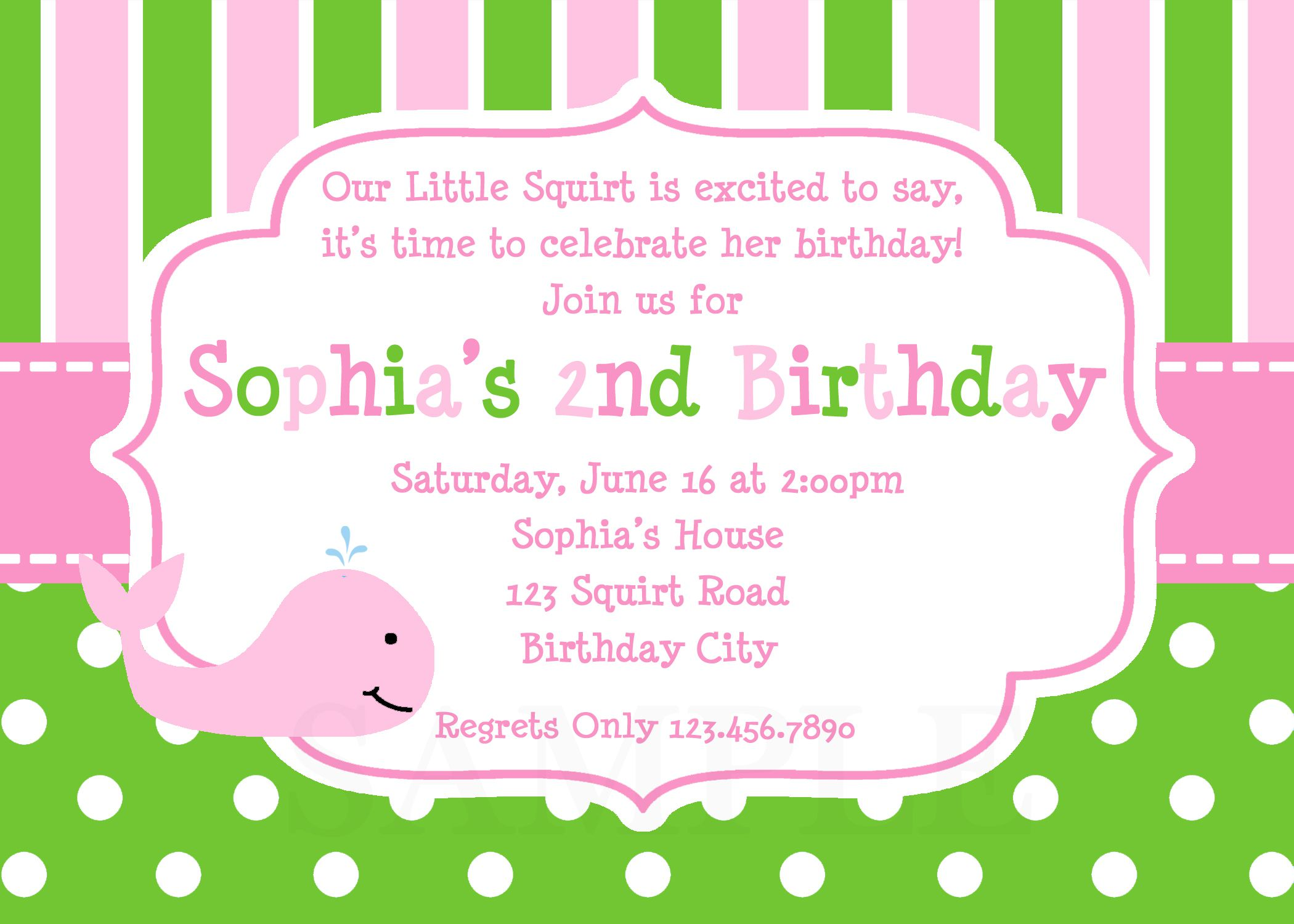 Kids Birthday Invitations Party Wording