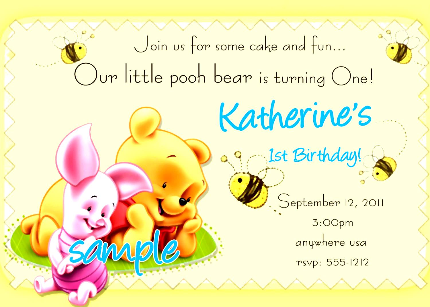 Kid Birthday Invitation Card