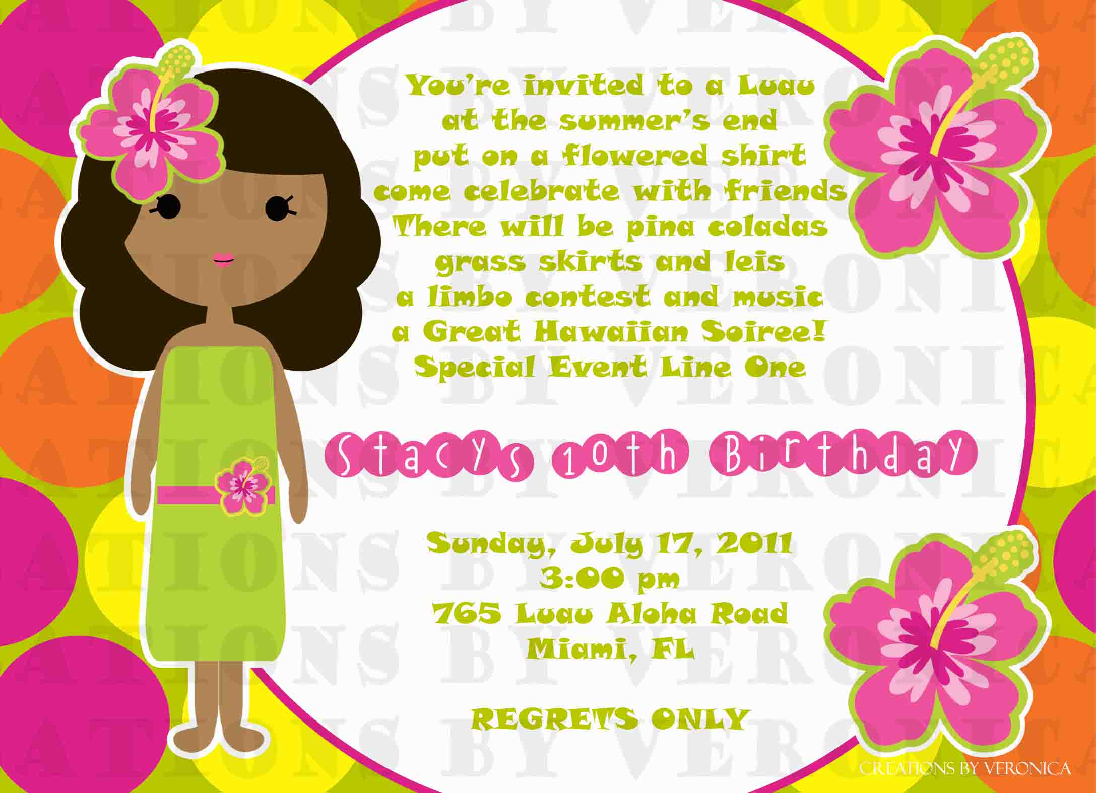 Luau Party Invitation Wording Werewolf Halloween Decorations