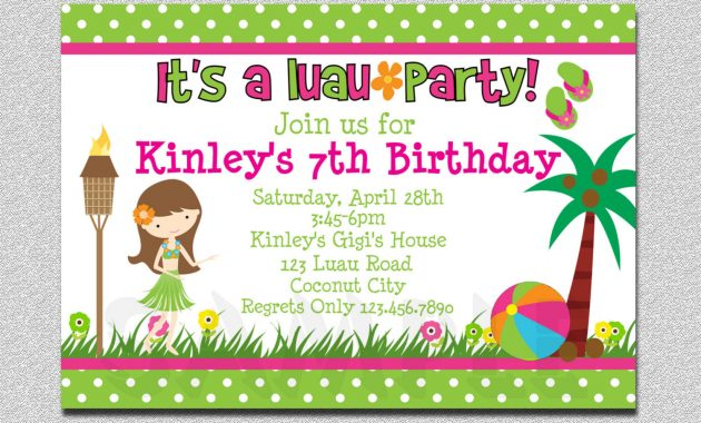 Birthday party invitations templates best review birthday 20 luau birthday invitations designs stopboris Gallery