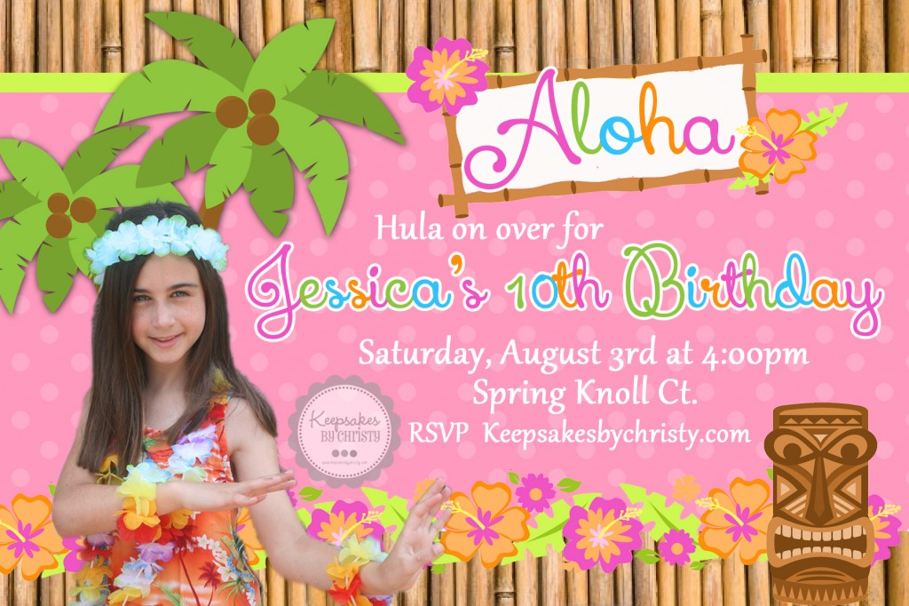 Luau Birthday Invitations For Girls
