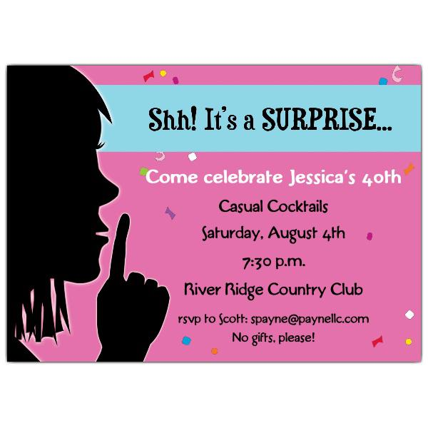 Surprise 30th Birthday Party Invitation Wording