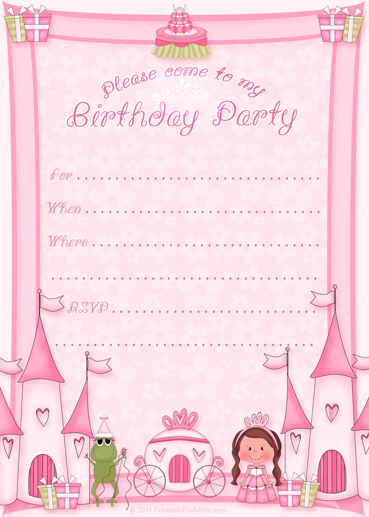 Barney Birthday Invitation Templates