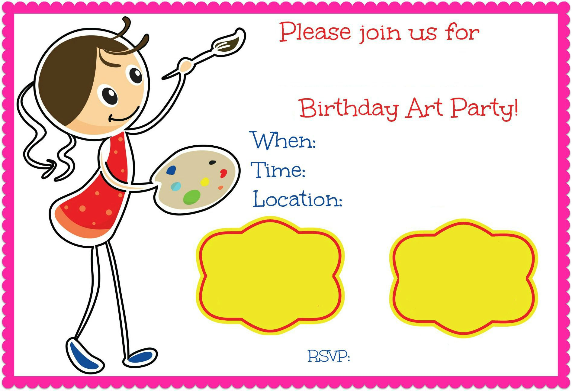 Birthday Treat Invitation Email