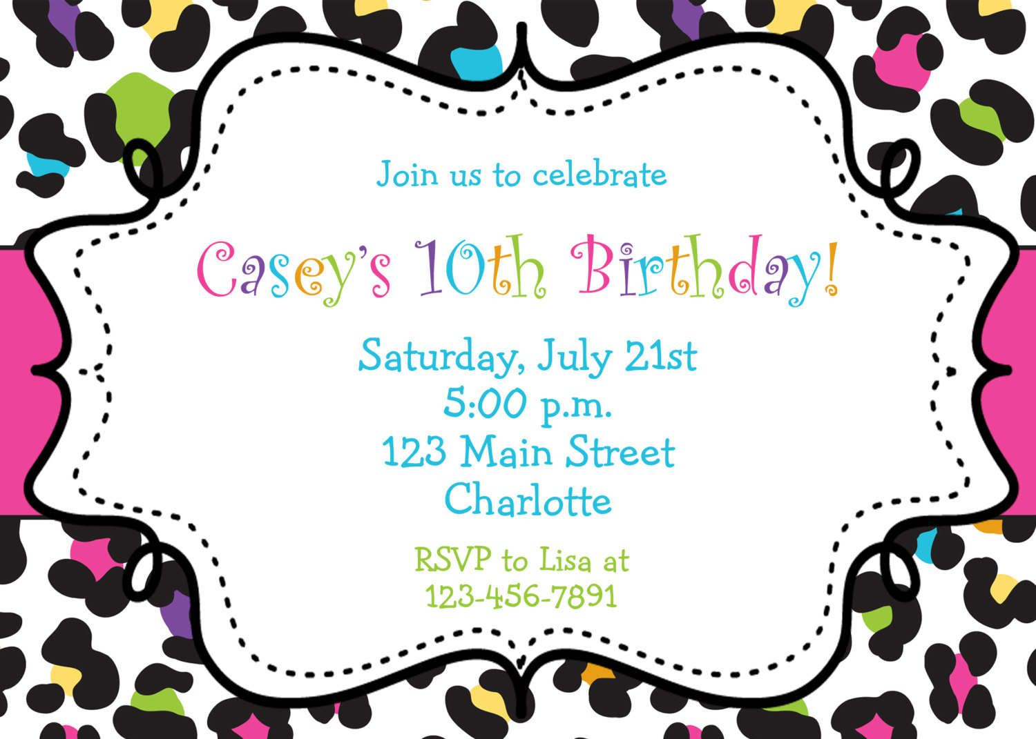 Blank Birthday Invitation Templates