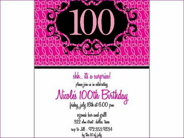 100th Birthday Invitations Australia