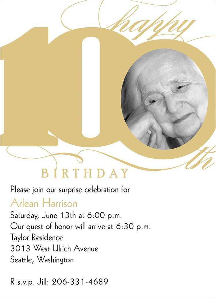 100th Birthday Invitations Uk