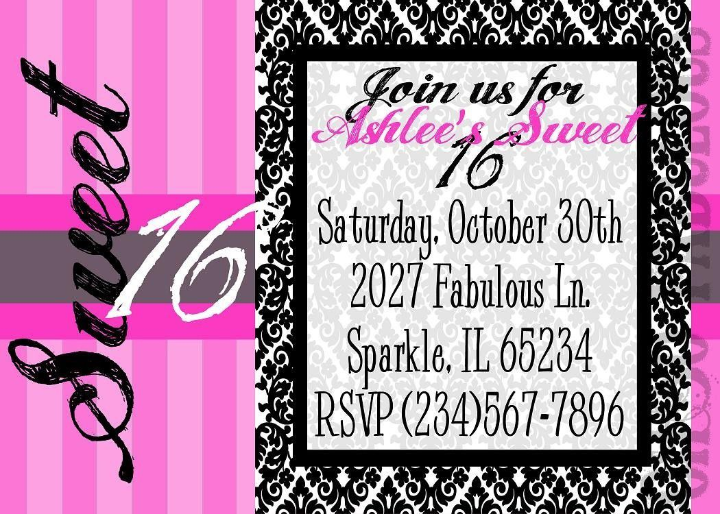 16th Birthday Invitations For A Boy