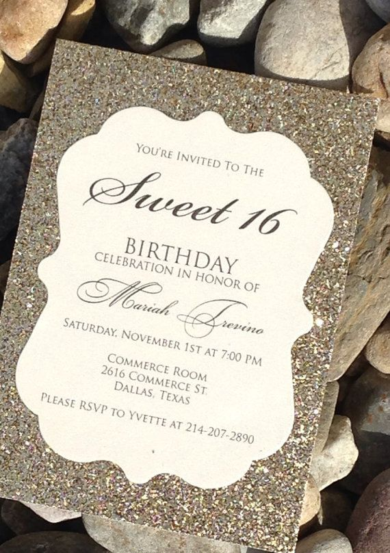 16th Birthday Invitations Free Printable