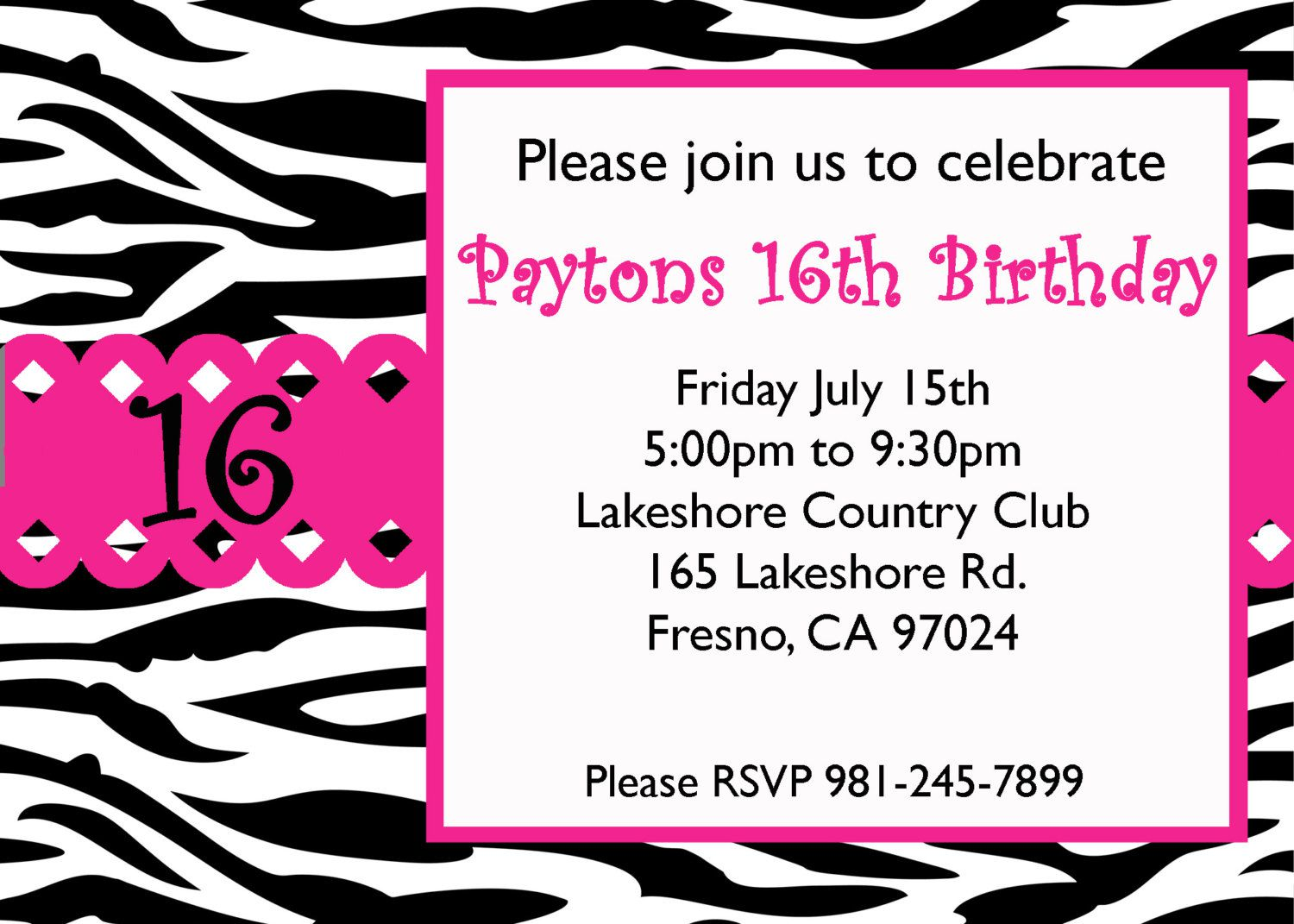 16th Birthday Invitations Ideas