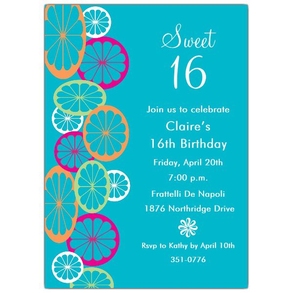16th Birthday Invitations Uk