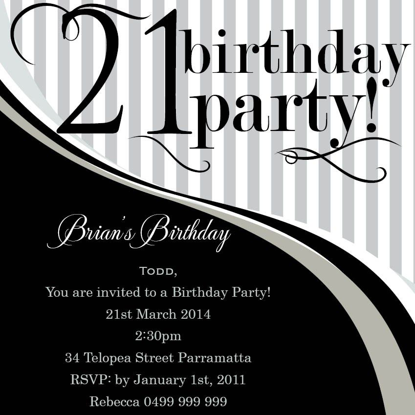 21st Birthday Invitations Amazon