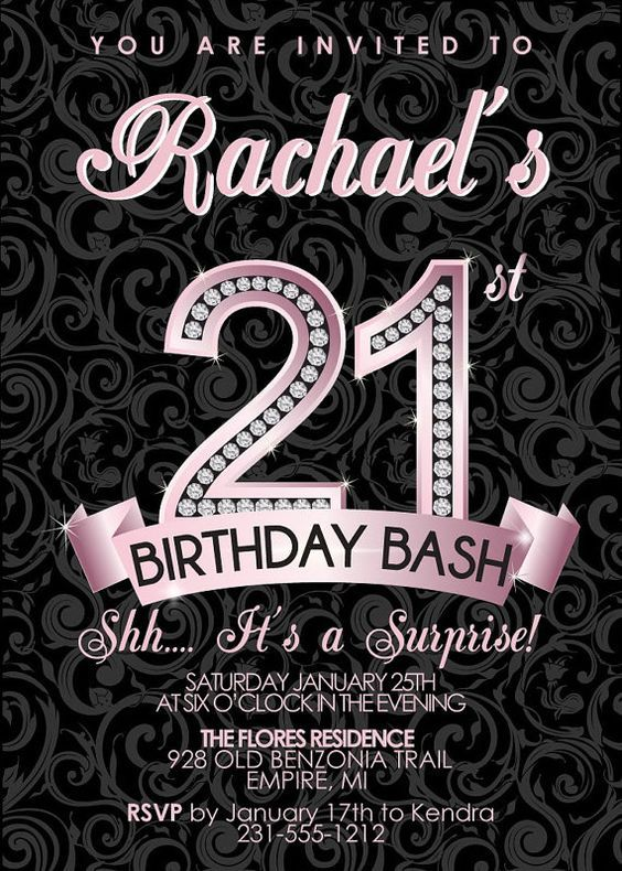 21st Birthday Invitations Australia