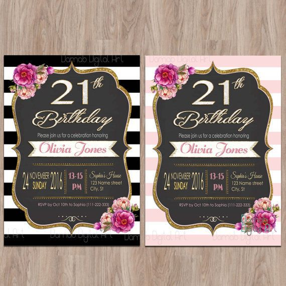 21st Birthday Invitations Cards