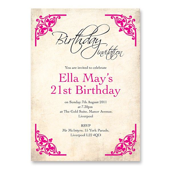 21st Birthday Invitations For Him