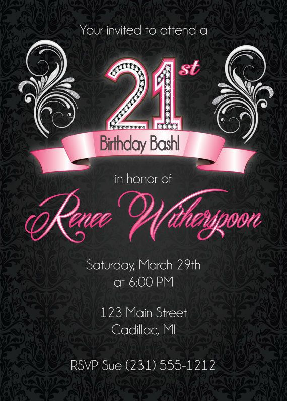 21st Birthday Invitations Male