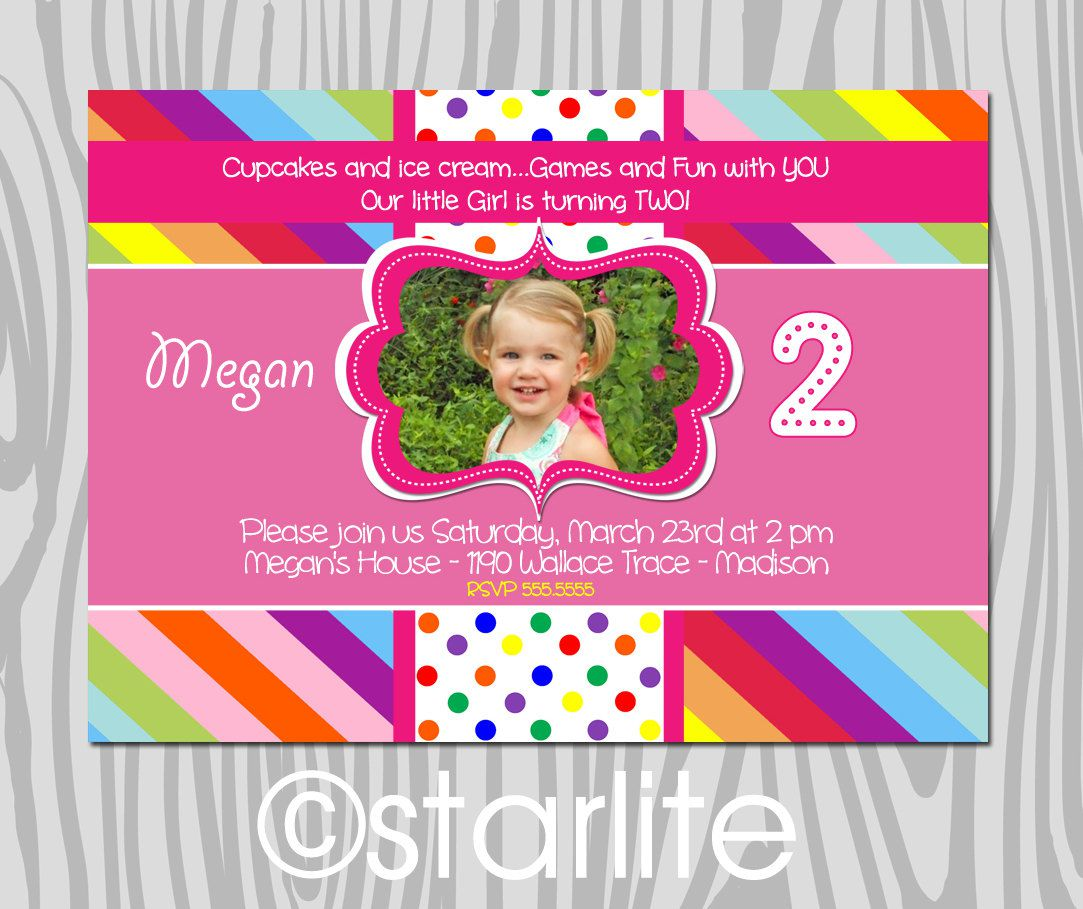 2nd Birthday Invitations Templates Free
