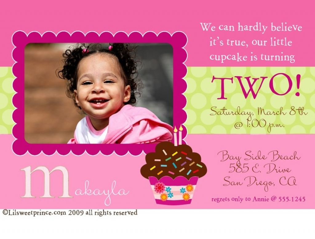 2nd Birthday Invitations Wording Ideas