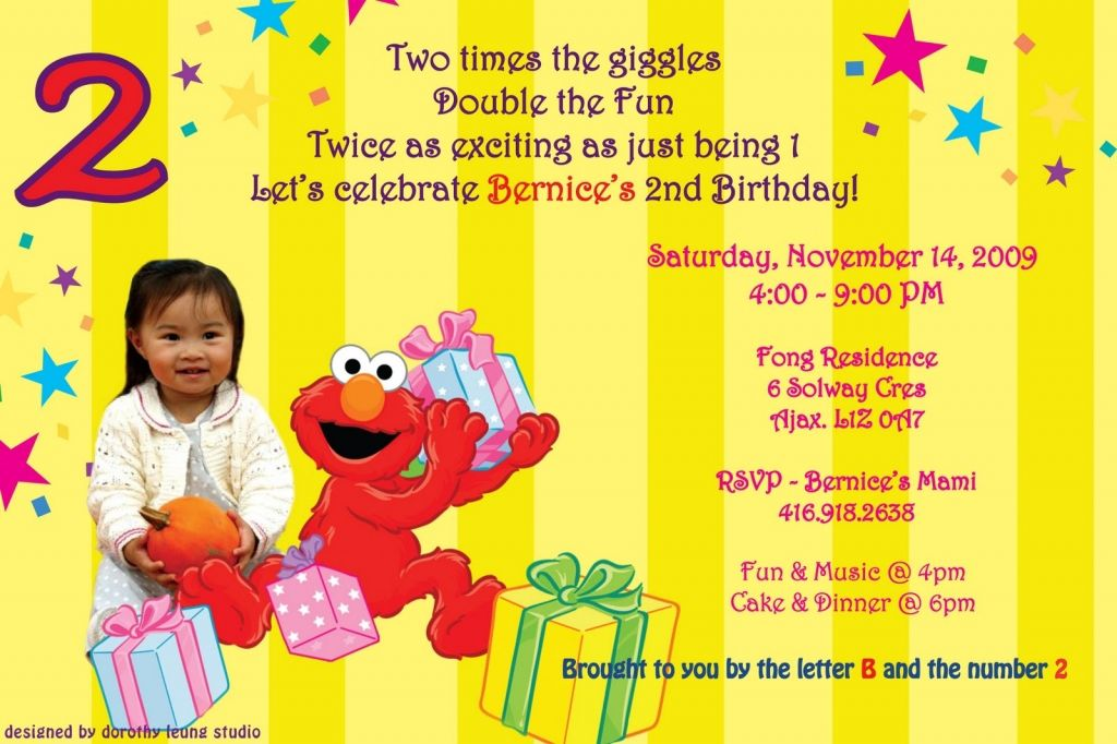 2nd Birthday Invitations Wording