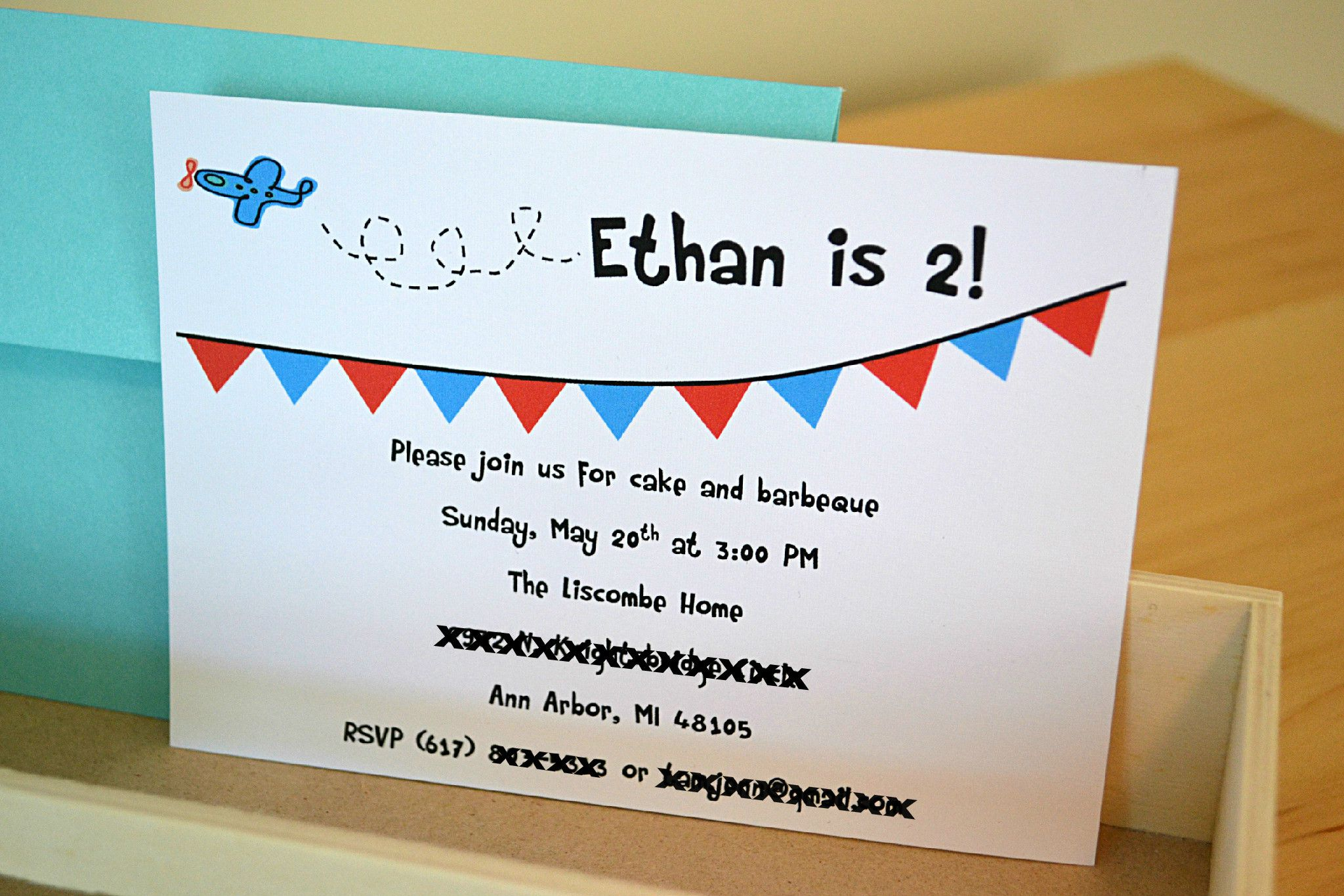 Airplane Birthday Invitation Wording