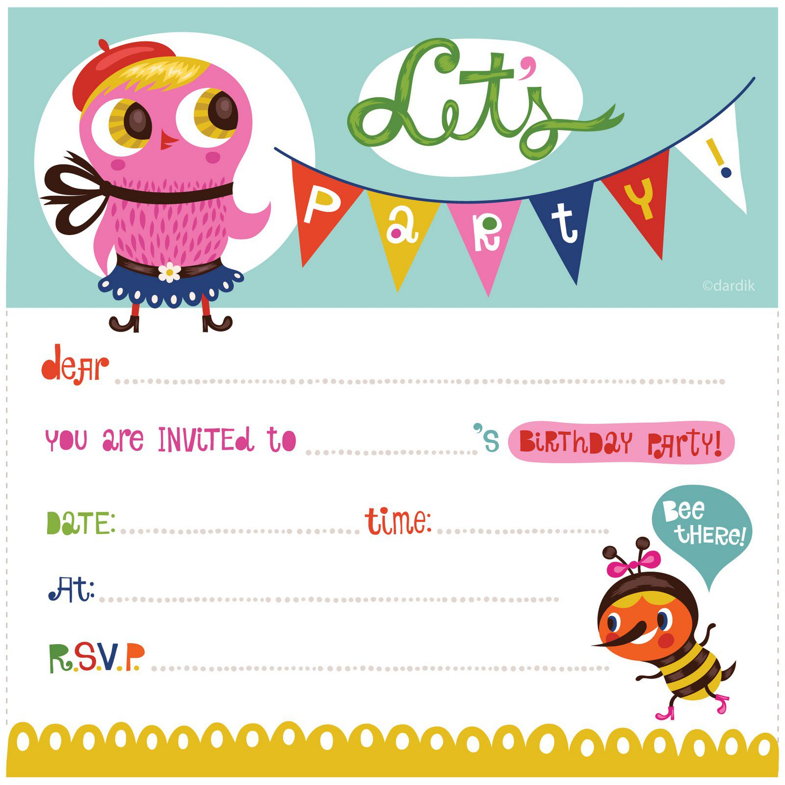 Birthday Invitation Template Circus